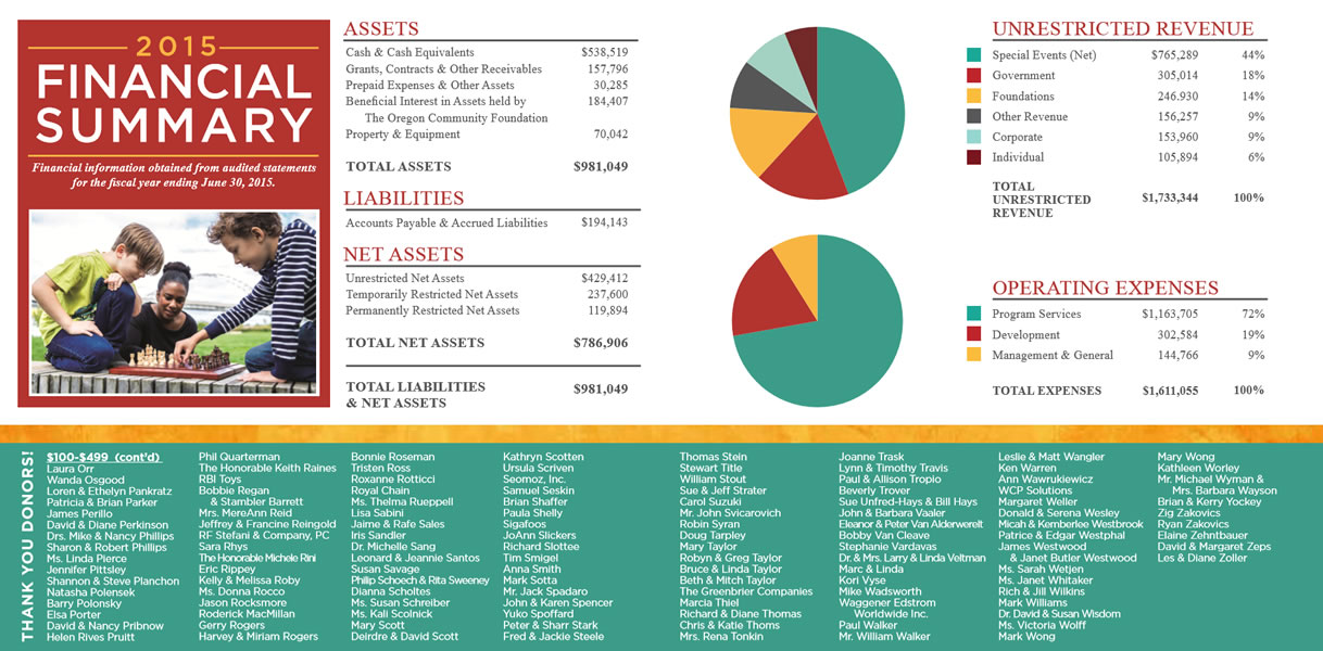 2015 Financial Summary