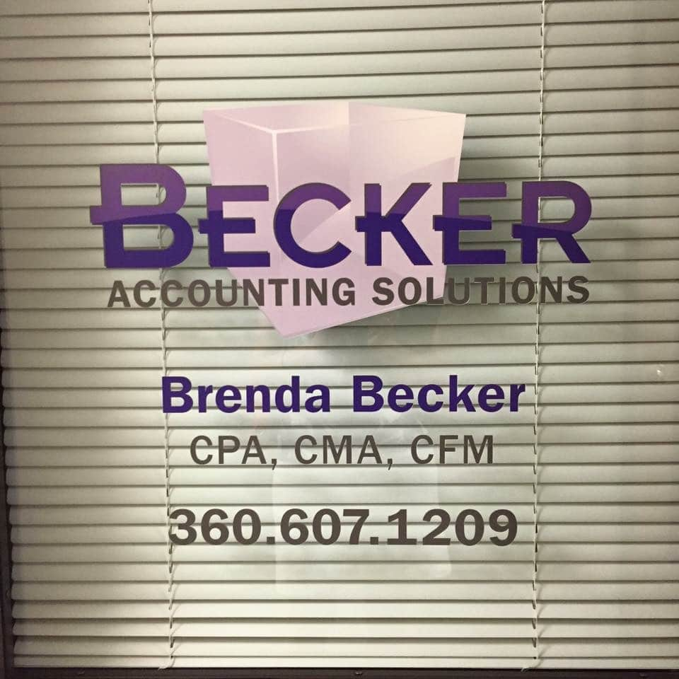 Becker Window Decal
