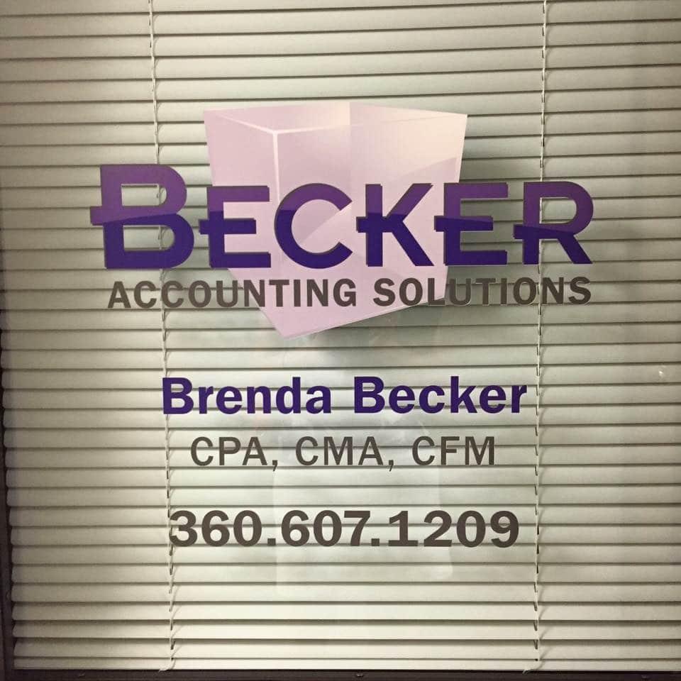 Becker Window Decal