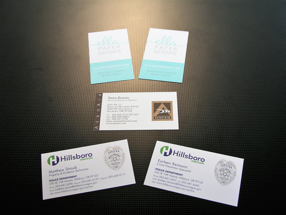 Business cards printed by AnchorPointe Graphics