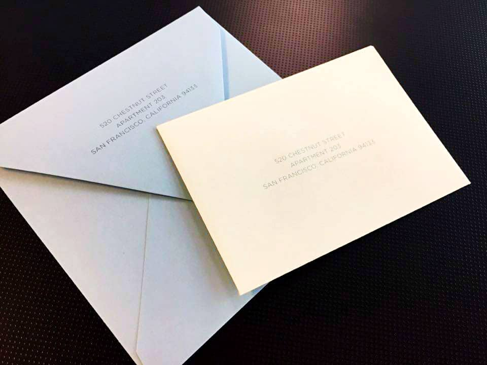 Envelopes for Invitations