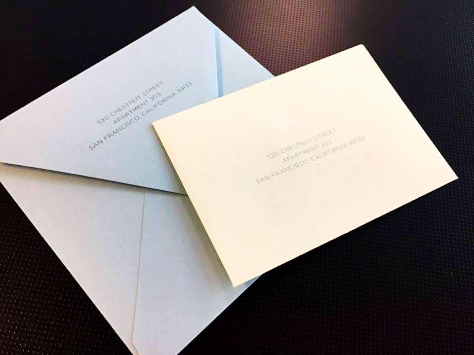 Envelopes for Invitations