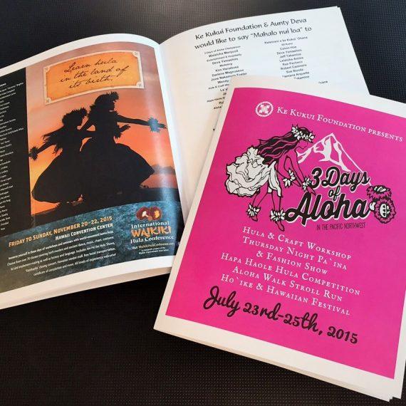 Color Printing invite and program