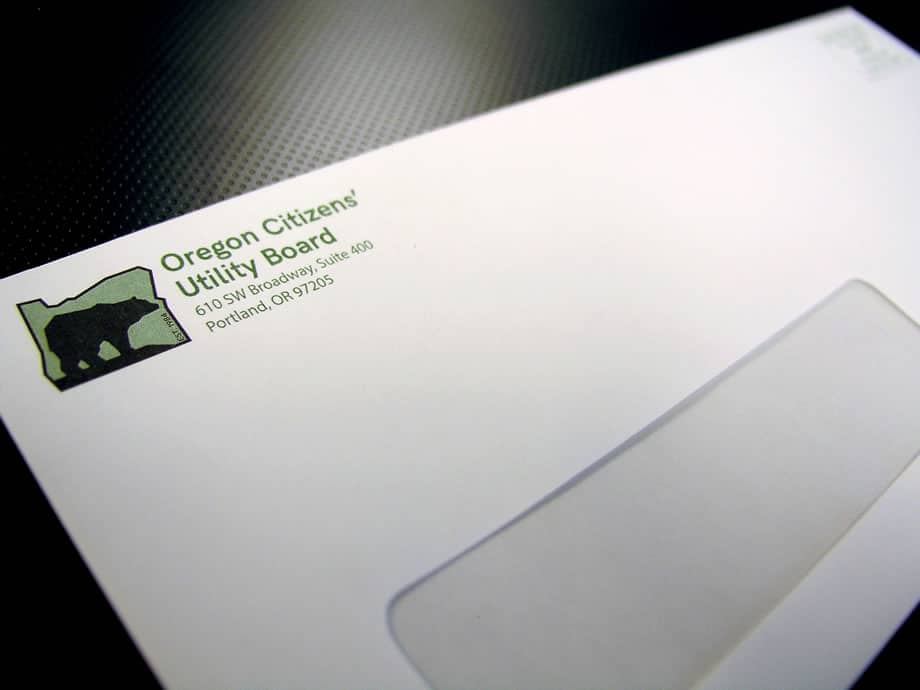 Envelopes - Oregon Citizens Utility Board