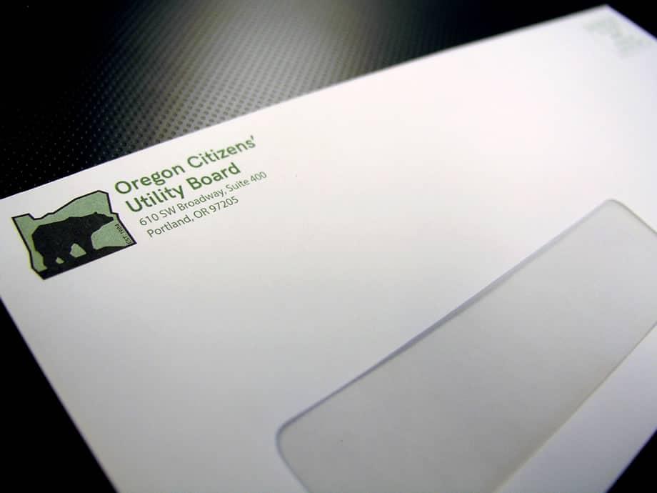 Envelopes - Oregon Citizens Utility Board