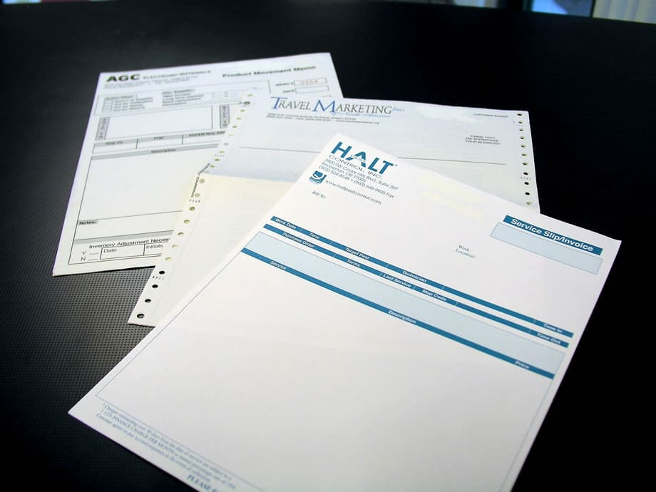 Examples of Business Forms