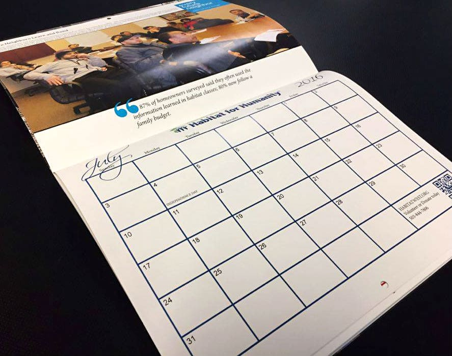 Habitat for Humanity Calendar