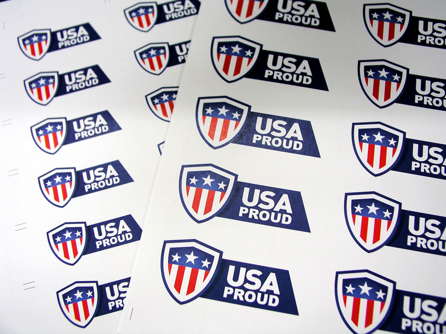 Custom Printed Stickers - USA Proud
