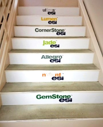 Large Format Floor Graphics Stairs