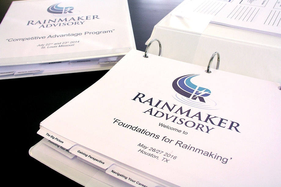 Example of custom manuals - Rainmaker Advisory