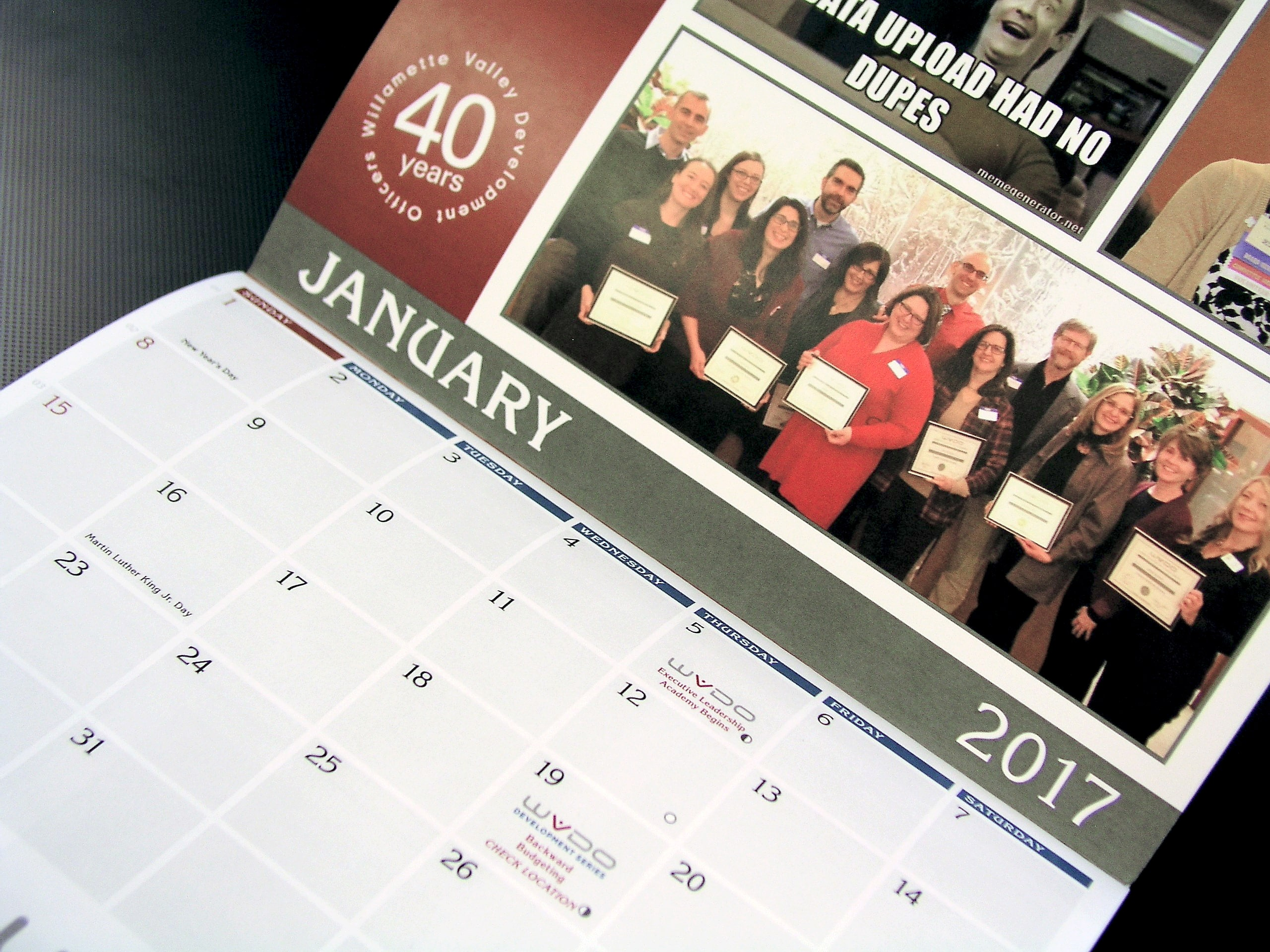 Custom Calendar Printed at AnchorPointe Graphics