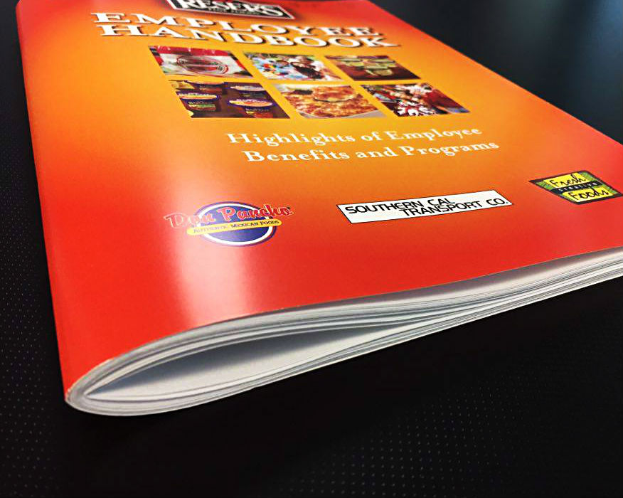 Example of custom printed manual for Reser's