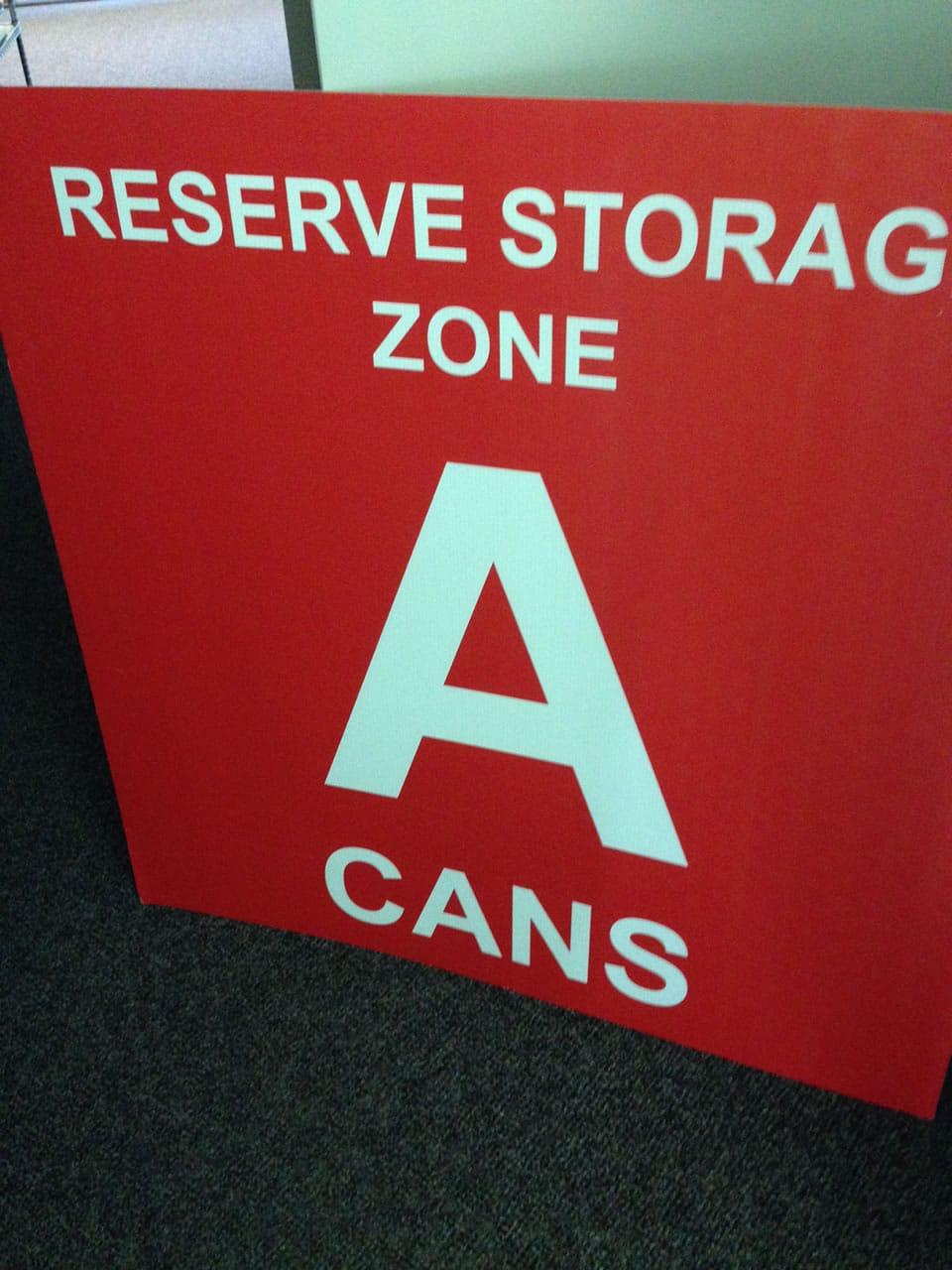 Reserve Storage Large Format Sign
