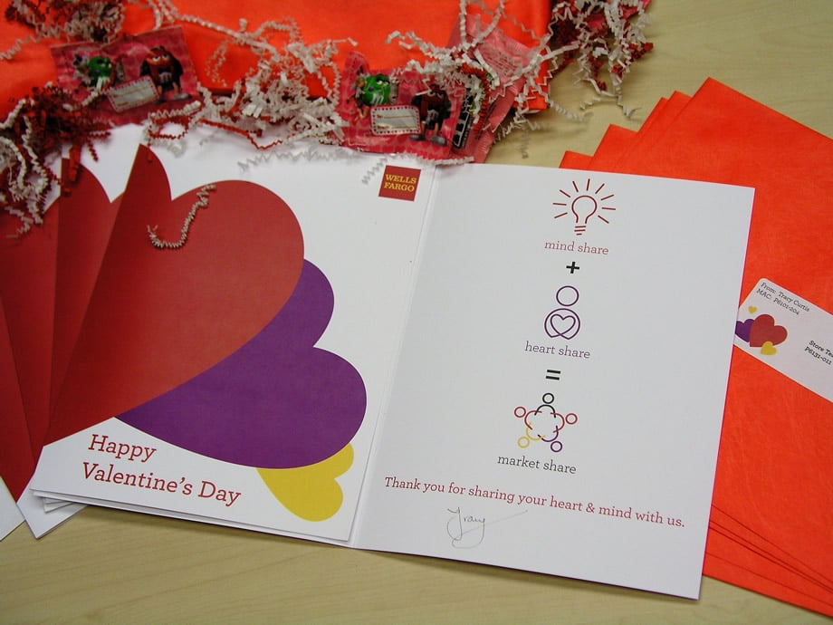 Wells Fargo VDay Cards