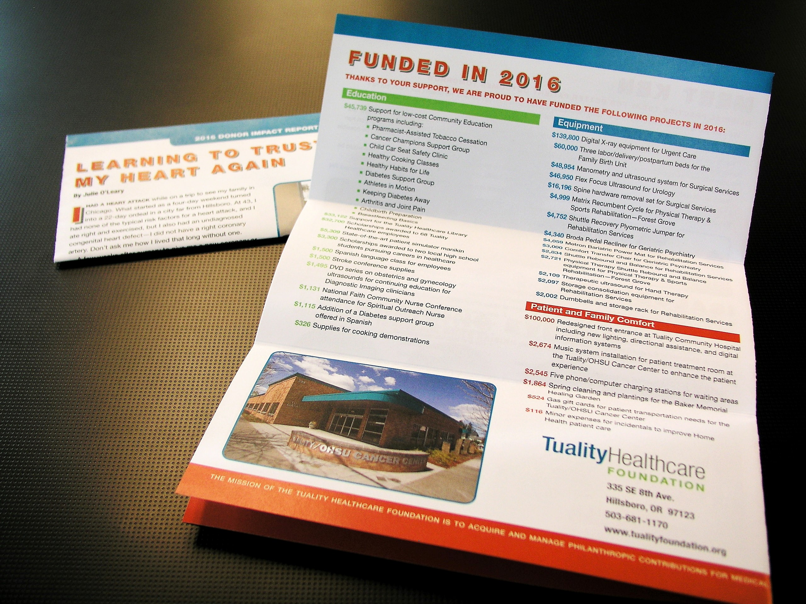 Annual Reports Printed at AnchorPointe Graphics