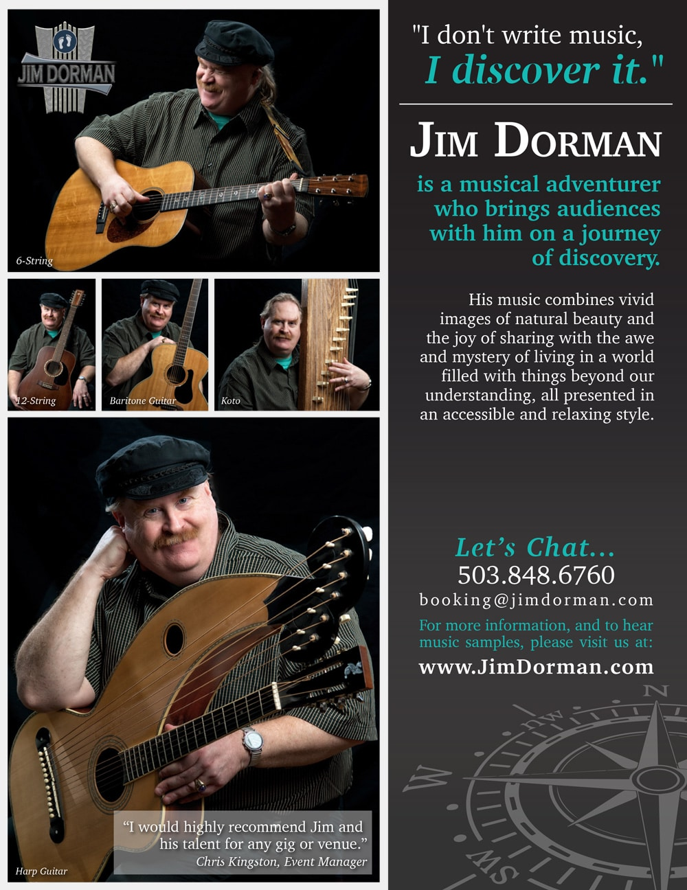 Jim Dorman - example of flyer printing