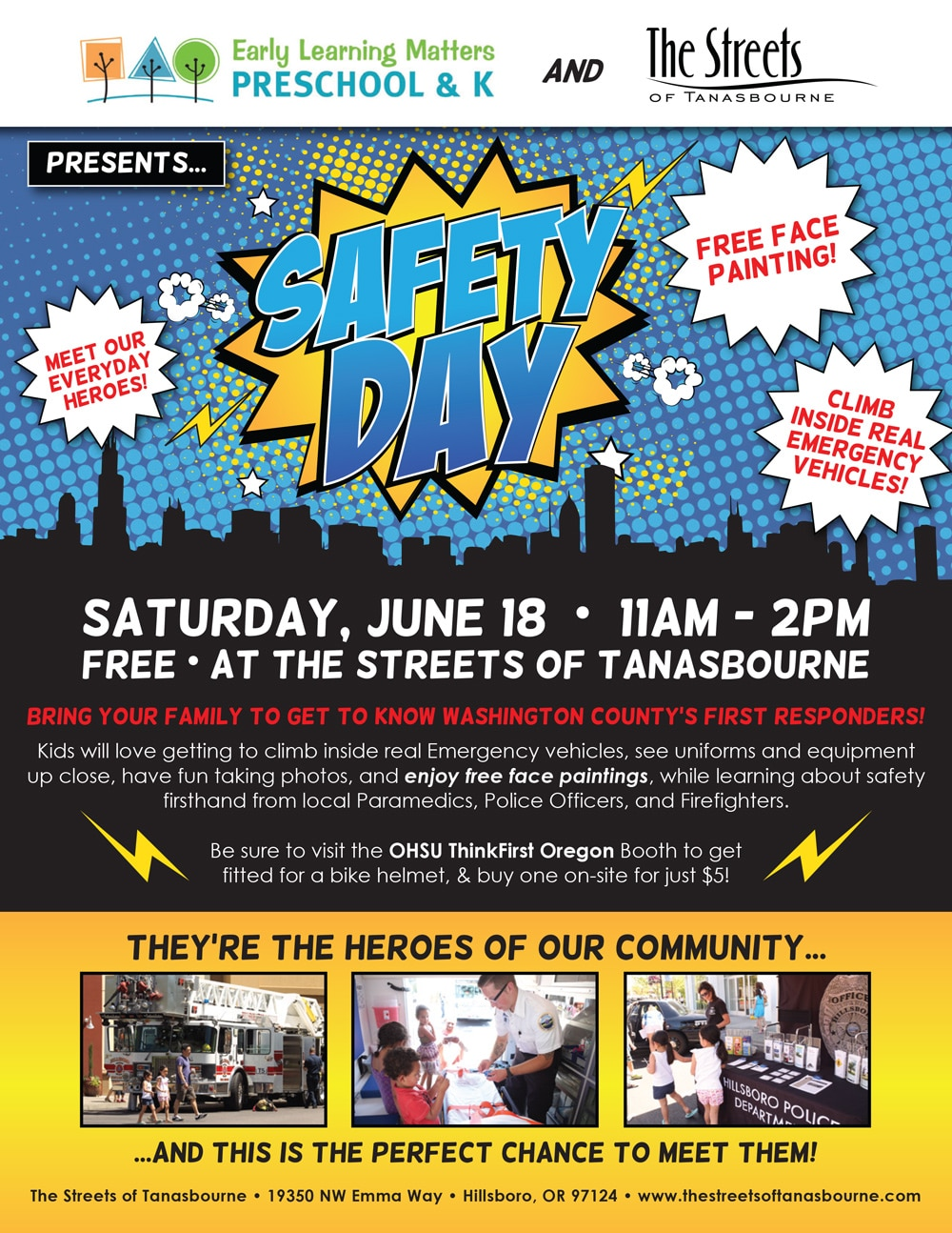 The Streets Safety Day Flyer