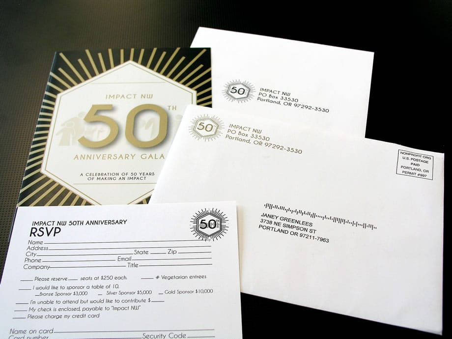 Event Materials - 50th Anniversary Gala