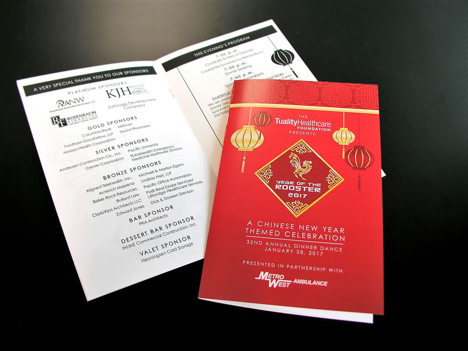 Event Materials - Booklets- Tuality