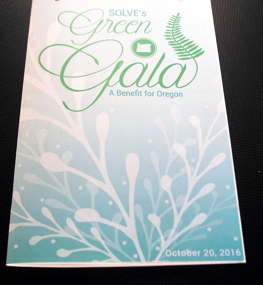 Event Materials - Green Gala