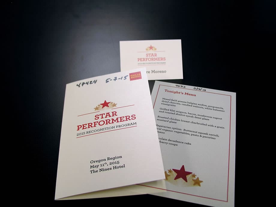 Event Materials - Star Performers