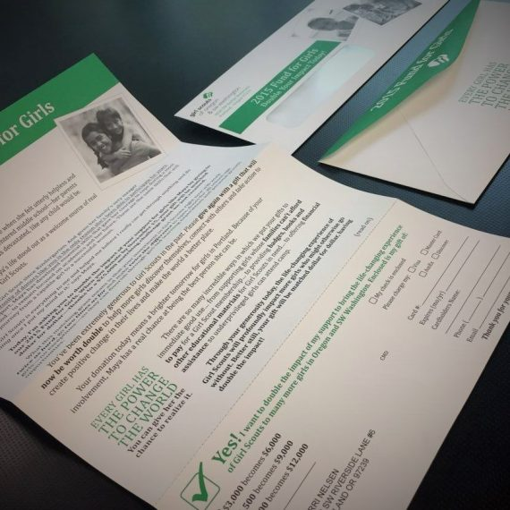 Graphic design direct mail appeal letter