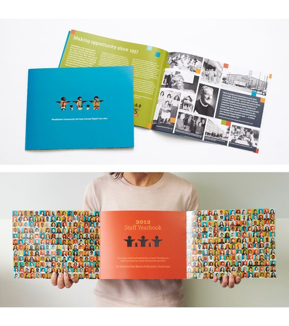 Booklet with center fold-out pages