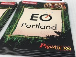 Portland Business Journal Recyclable Signage