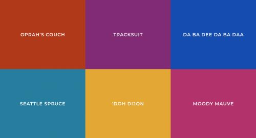 1990's color palette