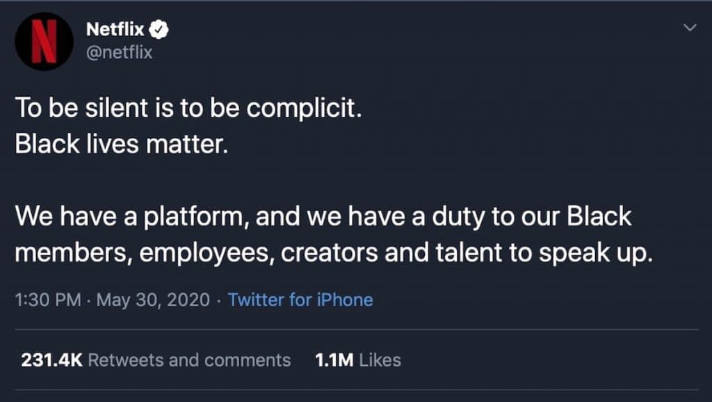 Netflix twitter post